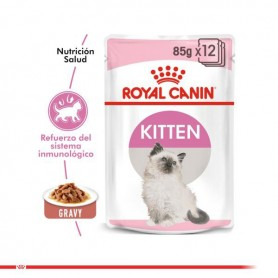 Pack 12 Royal Canin Pouch Instinctive Gato Kitten 85 grs