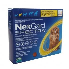 Nexgard Spectra 3.6 a 7.5 kg 1 Comprimido