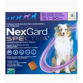 Nexgard Spectra 15.1 a 30 kg 3 Comprimidos
