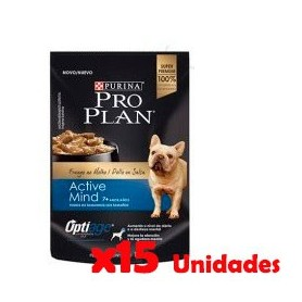 Pack 15 Unidades Pro Plan Pouch Active Mind 7+ 100grs