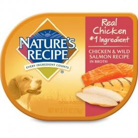 Alimento Humedo Natures Recipes Pollo y Salmon