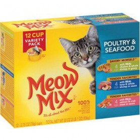 Alimento Humedo Meow Pack 12