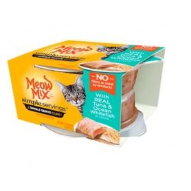 Alimento Humedo Meow Tuna y Salmon x 2