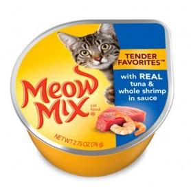 Alimento Humedo Meow Tuna and Shrimp