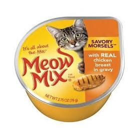 Alimento Humedo Meow Chicken Breast in Gravy
