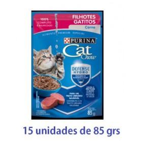 Pack Cat Chow Gatitos Carne 15 x 85g
