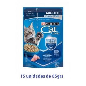 Pack Cat Chow Gato Adulto Pollo 15 x 85g