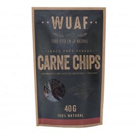 Wuaf Snack Chip Carne 40grs