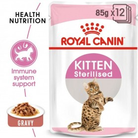 Pack 12 Royal Canin Pouch Gato Kitten Sterilized 85 grs