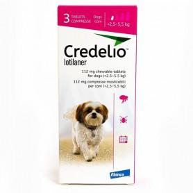 Credelio Perro de 2.5 a 5.5 kg de 3 Comprimidos