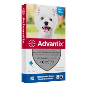 Advantix Antiparasitario Ext. 4 a 10 Kg