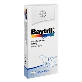 Baytril Comp. Perro/Gato Saborizado 50 mg