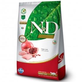 N&D Grain Free Feline Adult - pollo y granada 10KG