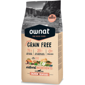 Ownat Just Grain Free Salmon & Seafood 14kg.