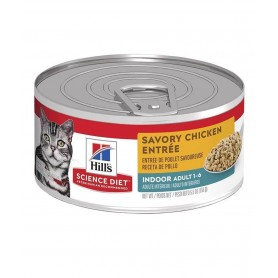 Alimento Humedo Hills Feline Indoor Savory Chicken