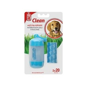 Dispensador recoge fecas azul dog it