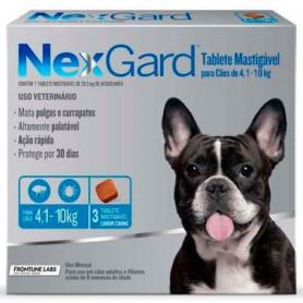 NexGard 3 Compromidos 4 a 10 Kg