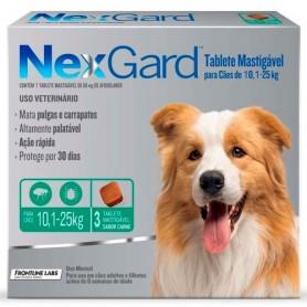 NexGard 3 Compromido 10 a 25 Kg