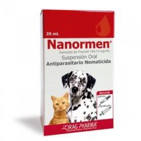 Nanormen Suspensión Antiparasitario Perro y Gato 20 ML