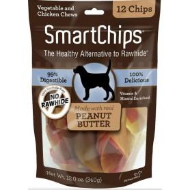 Golosinas SmartChips Peanut Butter 12 unidades